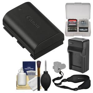 Canon LP-E6N Lithium-ion Rechargeable Battery Pack with Charger + Sling Strap + Kit