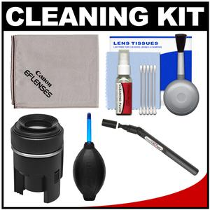 Canon Optical Digital Camera and Lens Cleaning Kit - Brush Microfiber Cloth Fluid and Tissue - with Blower + Lenspen Sensor Cleaner