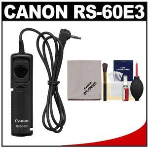 Canon RS-60E3 Remote Switch Shutter Release Cord with Cleaning Kit for EOS 70D 77D Rebel T5 T5i T6 T6i T6s T7i SL1 SL2 Camera