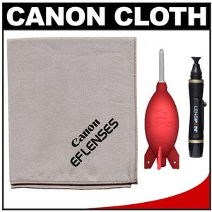 Canon EF Lenses Microfiber Lens Cleaning Cloth with Rocket Blower + Lenspen Kit