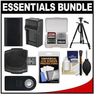 Essentials Bundle for Canon EOS 80D 5D III IV 5Ds 5Ds R 6D 7D Mark II DSLR Camera with LP-E6 Battery and Charger + Tripod + Remote + Accessory Kit