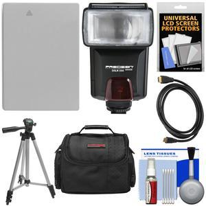 Essentials Bundle for Canon Powershot G15 G16 and G1 X with NB-10L Battery + Flash + Case + Tripod + HDMI Cable + Accessory Kit