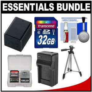 Essentials Bundle for Canon Vixia HF R70 R700 R72 R80 R800 R82 Camcorder with 32GB Card + BP-727 Battery and Charger + Tripod + Accessory Kit