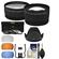 Essentials Bundle for Canon Rebel SL1, T5, T5i, T6, T6i, T6s, T7i Camera & 18-55mm Lens with Telephoto & Wide-Angle Lenses + 3 UV/CPL/ND8 Filters + 3 Diffusers + Lens Hood + Kit
