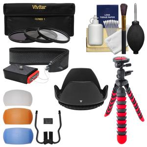 Essentials Bundle for Canon Rebel SL1 T5 T5i T6 T6i T6s T7i Camera and 18-135mm Lens with 3 UV-CPL-ND8 Filters + 3 Diffusers + Lens Hood + Kit