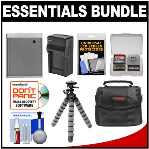 Essentials Bundle for Canon Powershot SX280 SX600 SX700 SX710 HS Camera with NB-6L Battery and Charger + Case + Flex Tripod + Accessory Kit