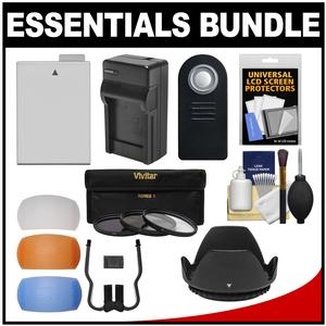 Essentials Bundle for Canon EOS Rebel T4i and T5i Digital SLR Camera and 18-55mm IS II Lens with LP-E8 Battery and Charger and 3 UV-CPL-ND8 Filters and 3 Pop-Up Diffusers and Lens Hood and Kit