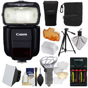 Canon Speedlite 430EX III-RT Flash with Softbox + Diffuser + - 4 - Batteries and Charger + Tripod + Accessory Kit