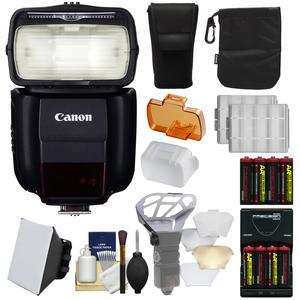 Canon Speedlite 430EX III-RT Flash with Soft Box + Diffuser Bouncer + Batteries and Charger + Kit