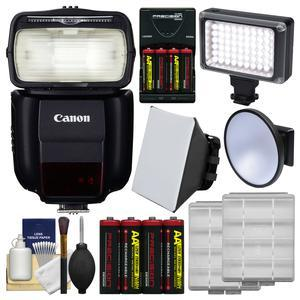Canon Speedlite 430EX III-RT Flash with Soft Box + Video Light and Diffuser + Batteries and Charger + Kit