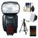 Canon Speedlite 600EX-RT Flash with Tripod + Soft Box + Batteries & Charger + Cleaning Kit