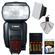 Canon Speedlite 600EX-RT Flash with Batteries & Charger + Diffuser + Accessory Kit