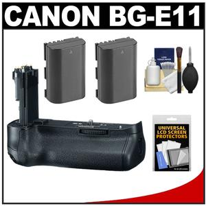 Canon BG-E11 Battery Grip for EOS 5D Mark III Digital SLR Camera with (2) LP-E6 Batteries + Cleaning Kit
