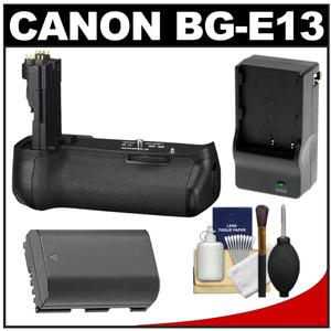 Canon BG-E13 Battery Grip for EOS 6D Digital SLR Camera with Battery & Charger + Cleaning Kit