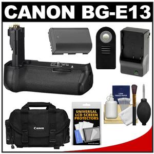 Canon BG-E13 Battery Grip for EOS 6D Digital SLR Camera with Battery & Charger + Case + RC-6 Remote + Accessory Kit