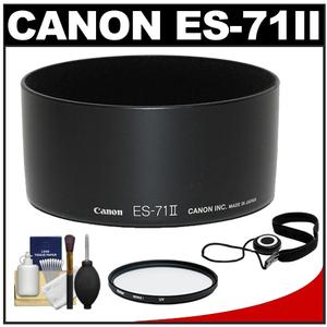 Canon ES-71II Lens Hood for 50 f-1.4 USM with UV Filter and Accessory Kit