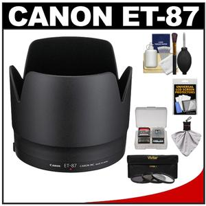 Canon ET-87 Lens Hood for EF 70-200mm f-2.8 L II IS USM with 3-UV-ND8-CPL-Filter Set and Accessory Kit