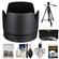 Canon ET-87 Lens Hood for EF 70-200mm f/2.8 L II IS USM with 3 (UV/ND8/CPL) Filter Set + Tripod + Accessory Kit