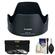 Canon EW-72 Lens Hood for EF 35mm f/2 IS USM with 3 UV/CPL/ND8 Filters + Accessory Kit