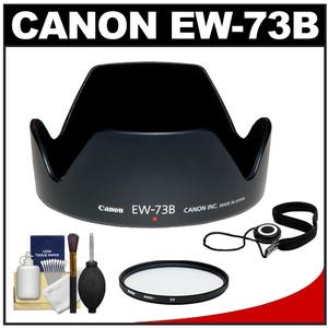Canon EW-73B Lens Hood for EF-S 17-85mm USM and EF-S 18-135mm IS Lens with UV Filter and Accessory Kit