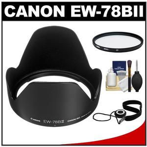 Canon EW-78BII Lens Hood for EF 28-135mm f-3.5-5.6 IS with UV Filter and Accessory Kit