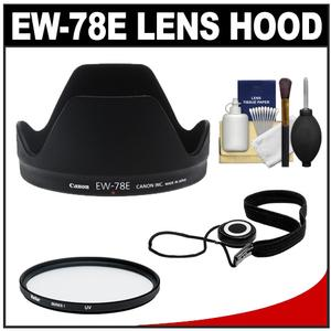 Canon EW-78E Lens Hood for EF-S 15-85mm f-3.5-5.6 IS USM with UV Filter and Accessory Kit