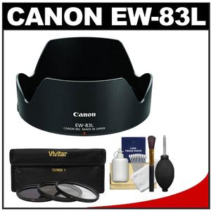 Canon EW-83L Lens Hood for EF 24-70mm f-4L IS USM with 3 UV-ND8-CPL Filters and Accessory Kit
