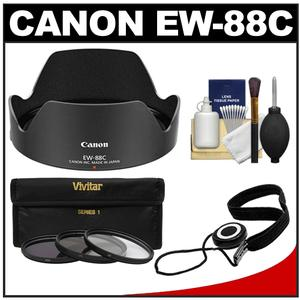 Canon EW-88C Lens Hood for EF 24├óΓe¼ΓÇ£70mm f-2.8L II USM with 3 Filter-UV-ND8-CPL-Set and Accessory Kit
