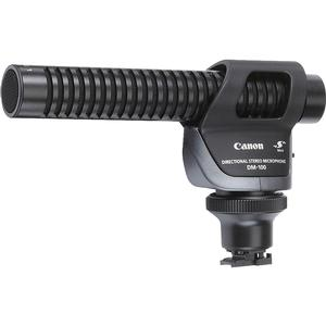 Canon DM-100 Directional Stereo Microphone Attaches to Advanced Accessory Shoe for Cable-Free Operation