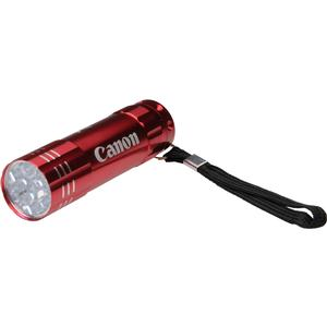 Canon 9 LED Push Button Flashlight - Red -