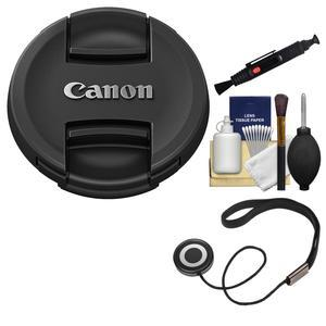 Canon E-82II 82mm Snap-On Lens Cap with CapKeeper and Lens Pen and Cleaning Kit