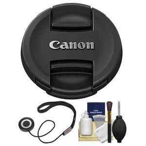 Canon E-82II 82mm Snap-On Lens Cap with CapKeeper and Cleaning Kit