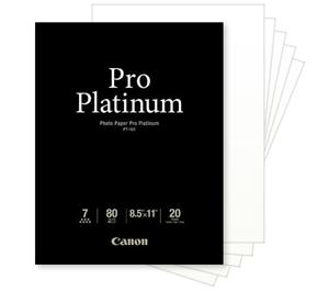 Canon Photo Paper Pro Platinum 8.5 x 11 Inkjet Paper - 20 Sheets PT-101