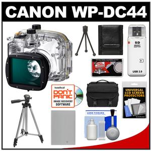 Canon WP-DC44 Waterproof Underwater Housing Case for PowerShot G1 X Digital Camera with NB-10L Battery + Camera Case + Tripod + Accessory Kit