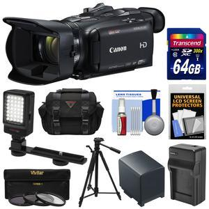 Canon Vixia HF G40 Wi-Fi 1080p HD Digital Video Camcorder with 64GB Card + Battery and Charger + Case + Tripod + 3 Filters + LED Light + Kit