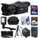 Canon Vixia HF G40 Wi-Fi 1080p HD Digital Video Camcorder with 64GB Card + Battery & Charger + Case + Tripod + 3 Filters + LED Light + Kit