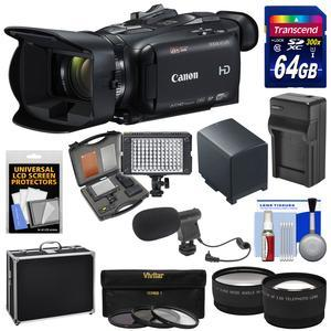 Canon Vixia HF G40 Wi-Fi 1080p HD Digital Video Camcorder with 64GB Card + Battery and Charger + Hard Case + LED + Microphone + Tele-Wide Lens Kit