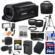 Canon Vixia HF R700 1080p HD Video Camcorder (Black) with 64GB Card + Battery & Charger + Case + Tripod + LED Light + Mic + Tele/Wide Lens Kit