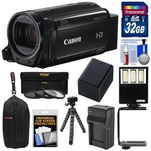 Canon Vixia HF R70 16GB Wi-Fi 1080p HD Video Camcorder with 32GB Card and Battery and Charger and Case and Flex Tripod and 3 Filters and LED Light and Kit