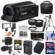 Canon Vixia HF R70 16GB Wi-Fi 1080p HD Video Camcorder with 64GB Card + Battery & Charger + Case + Tripod + LED + Microphone + Tele/Wide Lens Kit