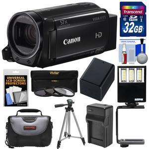 Canon Vixia HF R72 32GB Wi-Fi 1080p HD Video Camcorder with 32GB Card + Battery and Charger + Case + Tripod + 3 Filters + LED Light + Kit