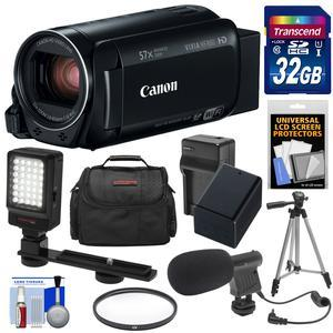 Canon Vixia HF R80 16GB Wi-Fi 1080p HD Video Camera Camcorder with 32GB Card + Battery and Charger + Case + Filter + Tripod + LED Light + Microphone + Kit