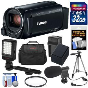 Canon Vixia HF R82 32GB Wi-Fi 1080p HD Video Camera Camcorder with 32GB Card + Battery and Charger + Case + Filter + Tripod + LED Light + Microphone + Kit