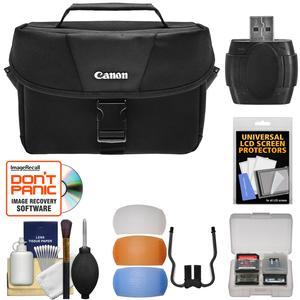 Canon 100ES DSLR & Video Camera Case with Flash Diffusers + Accessory Kit