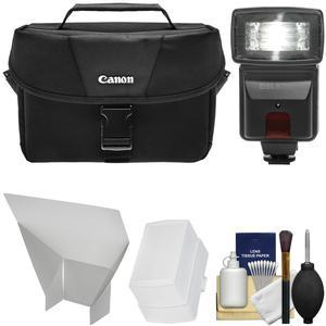Canon 100ES DSLR & Video Camera Case with Flash + Diffusers + Kit