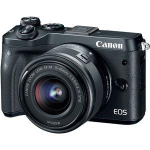 Canon EOS M6 Wi-Fi Digital ILC Camera and EF-M 15-45mm IS STM Lens - Black -