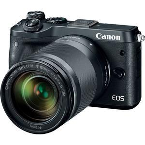 Canon EOS M6 Wi-Fi Digital ILC Camera and EF-M 18-150mm IS STM Lens - Black -