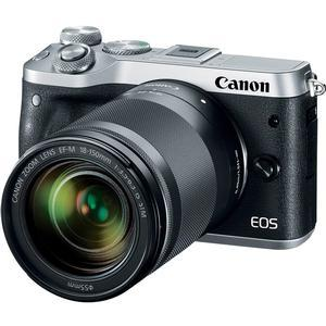Canon EOS M6 Wi-Fi Digital ILC Camera and EF-M 18-150mm IS STM Lens - Silver -