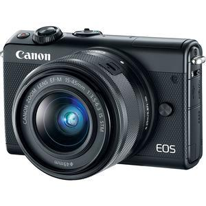 Canon EOS M100 Wi-Fi Digital ILC Camera and EF-M 15-45mm IS STM Lens - Black -