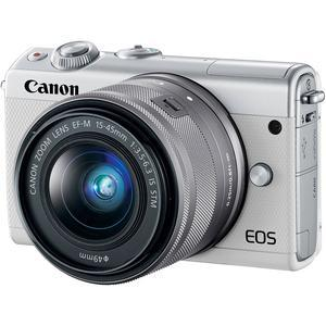 Canon EOS M100 Wi-Fi Digital ILC Camera and EF-M 15-45mm IS STM Lens - White -